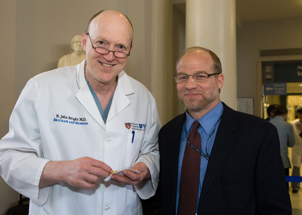 Past BLP participant John Wright, MD, with Mitchel Harris, MD, chief of Orthopedic Trauma and BLP course director