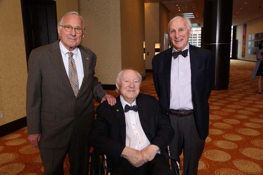 Fifty-five and 50 years honorees from left: Donald P. Goldstein (55 years); Norman Hollenberg (50 years); Frank Austen (50 years)