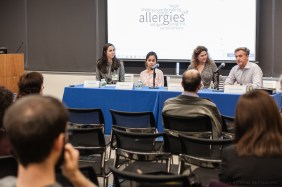 Audience members shared words that came to mind about immunotherapy