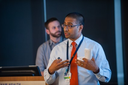 """Track B finalist Rajesh Patel presents, """"Sentry: Side Effect Notification Tool for Rxs."""""""