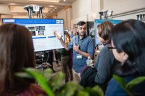 """20171109, Thursday, November 9, 2017, Boston, MA, USA, Brigham Health, Brigham and Women's Hospital and the Brigham Research Institute held their third annual Discover Brigham day-long campus-wide research day event on Thursday November 9, 2017. Announced during the Awards Ceremony Neurologist Ellen Bubrick, MD, of the Division of Epilepsy, captured the $100,000 BRIght Futures Prize with her research project titled """"Break The Shake: Ultrasound Treatment for Epilepsy"""" ( 2017 © lightchaser photography )"""