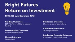 Bright futures return on investment graphic