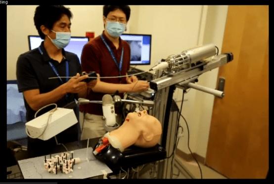 Fumitaro Masaki and Nobuhiko Hata demonstrate a robotic bronchoscope