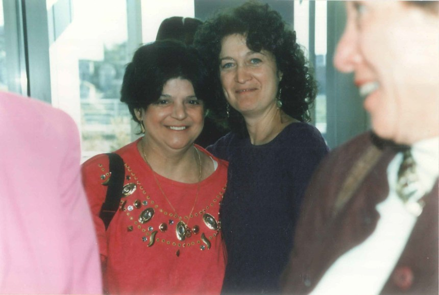 From left: Donna DeNapoli Champagne with her friend and colleague Claire Welch.