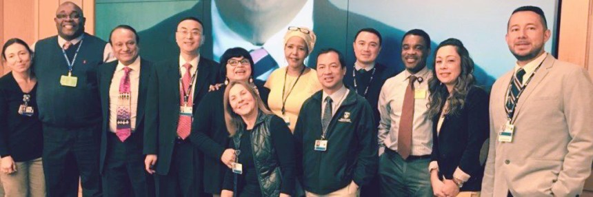 The Interpreter Services team during the International Translators' Day celebration at BWH