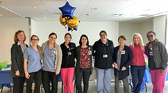 On Certified Nurses Day, Brigham nurses hosted an information table for their colleagues.
