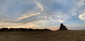 A view of Shiprock.