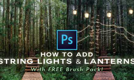 How To Create String Lights From Scratch- WITH FREE BRUSH PACK