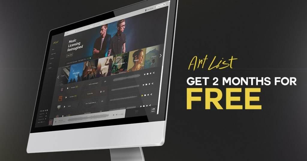artlist get two months free