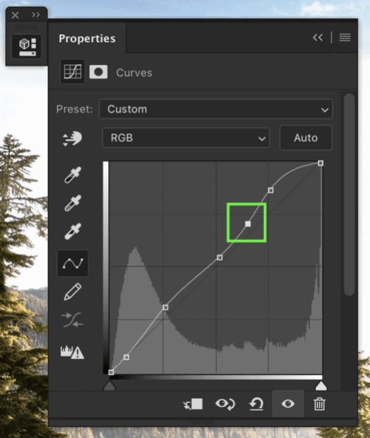 photoshop curves adjustment layer
