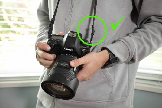 best way to tie a camera strap