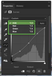 adjusting-color-channel-of-curve-adjustment