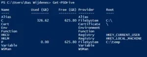 Let's create a new drive with PowerShell