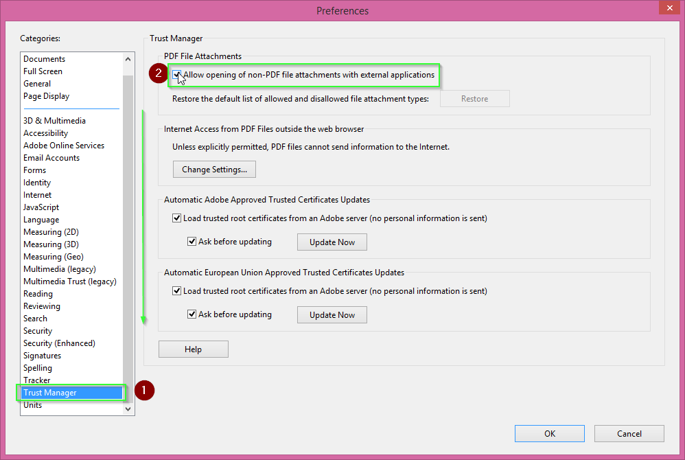How to disable Adobe Reader protected mode by Bas Wijdenes