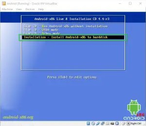 How to install Android in VB.
