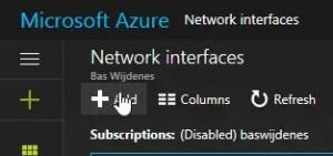 Enable Network Adapter Azure VM.