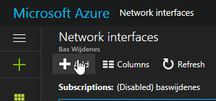 FIX: enable network adapter Virtual Machine in Azure by Bas