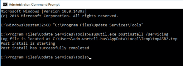 FIX: An error occured trying to connect the WSUS server by