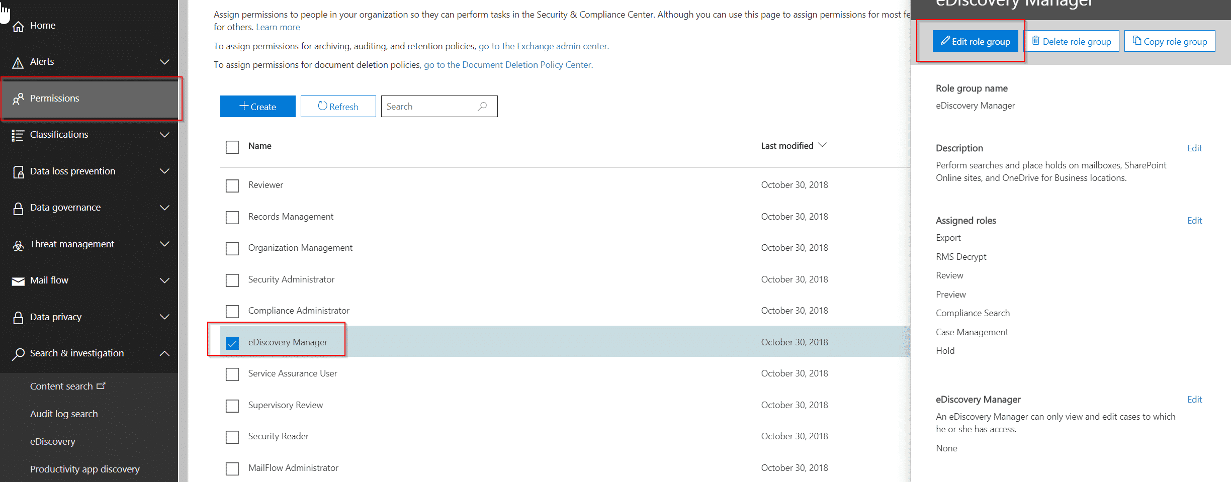 FIX: To preview search results, please ask your Compliance