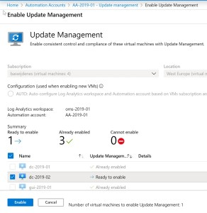 The solution cannot be enabled on this VM because the VM already has the management agent but the workspace associated with the agent cannot be found within the subscription.