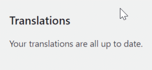Your translations are all up to date