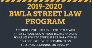 2019-2020 BWLA Street Law Program @ Gary Comer College Prep | Chicago | Illinois | United States