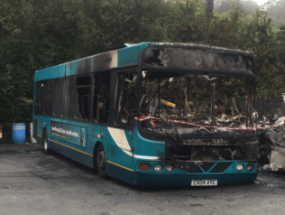 The Remains of Wright Cadet CX04AYC following the Fire at Pwllheli Depot