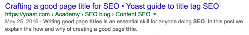 Barbara Williams SEO Yoast title example to counteract 'about'