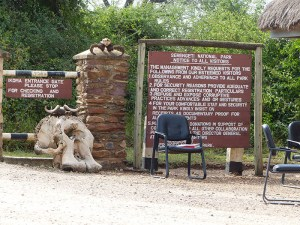 Serengeti National Park Notice Board