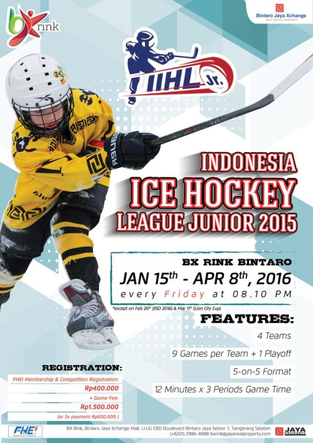 POSTER Indonesia Ice Hockey League Junior