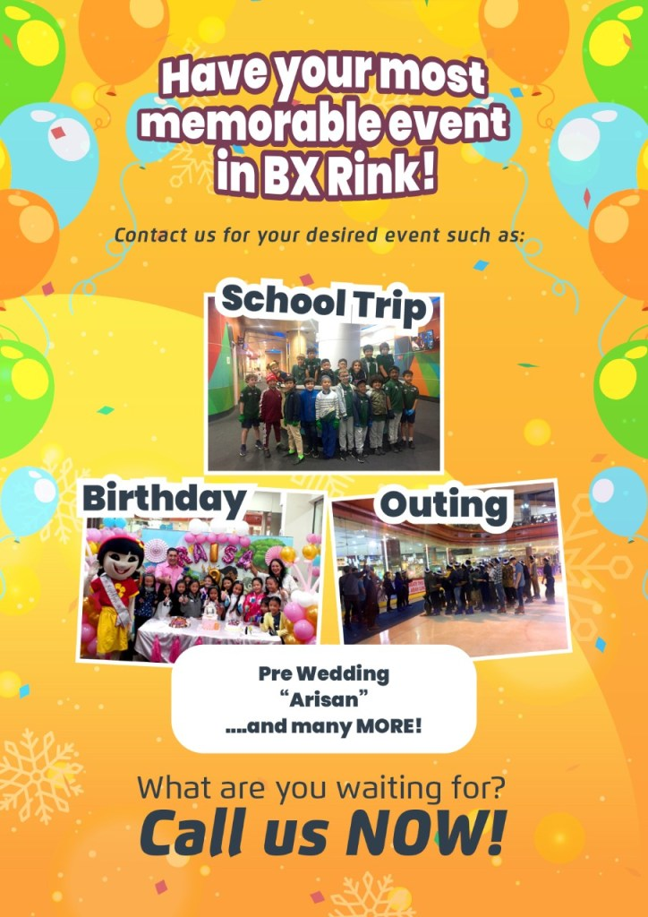 Birthday Party or Other Activites at BX Rink Bintaro Xchange Mall