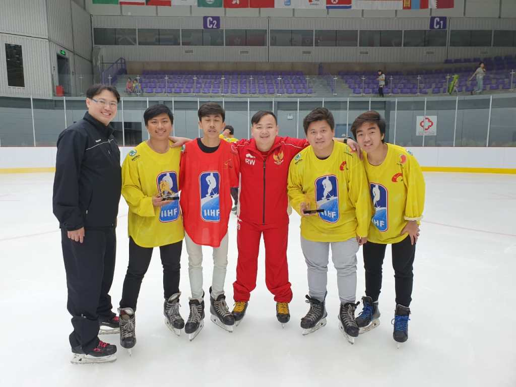 Tim Hoki Es Indonesia FHEI di 2019 IIHF CIHA Asian Mens Summer Camp Beijing China
