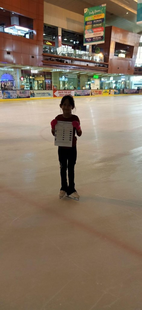 Skater BX Rink Bintaro Jaya Xchange Ice Skating Rink Test Level August 2019
