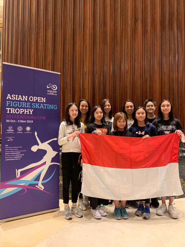 Asian Open Figure Skating Trophy 2019 Dongguan China Team Indonesia