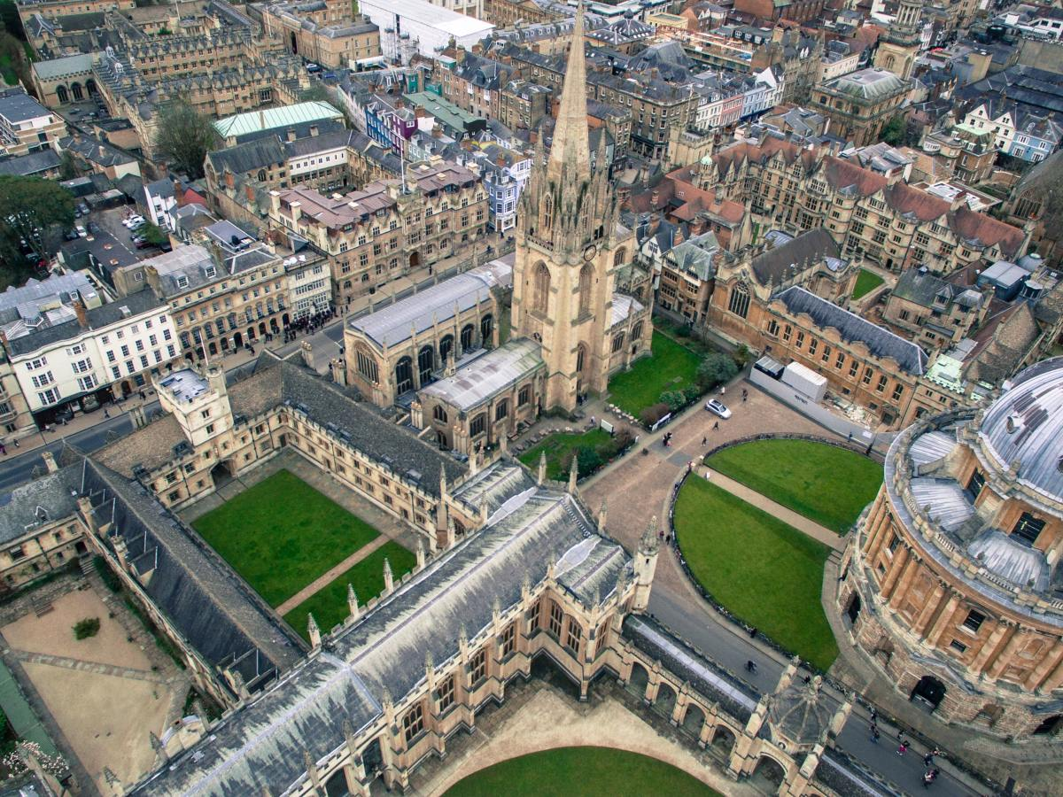 Image of Oxford city centre from above.