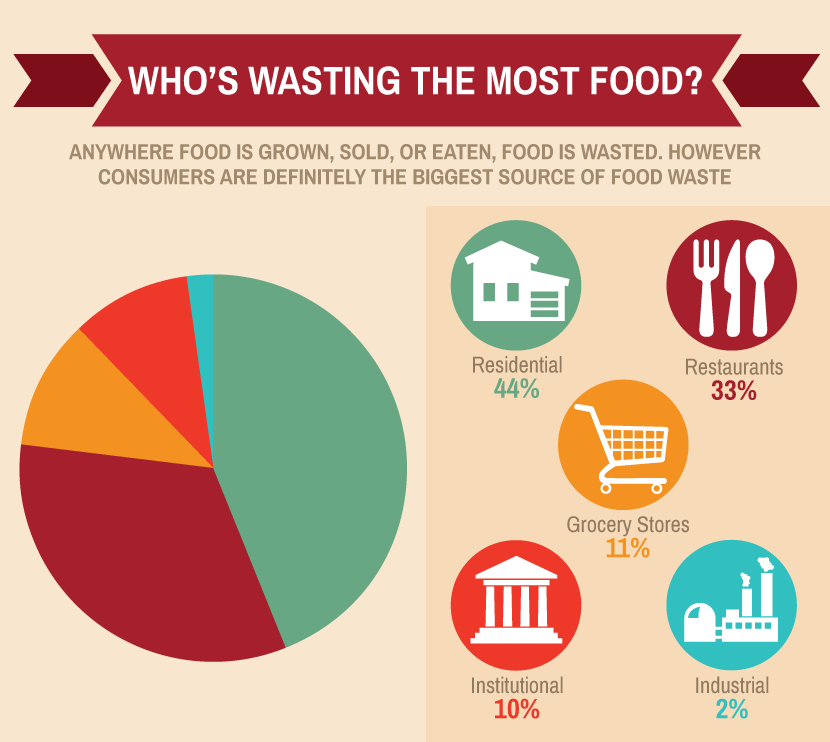 Who's wasting the most food diagram
