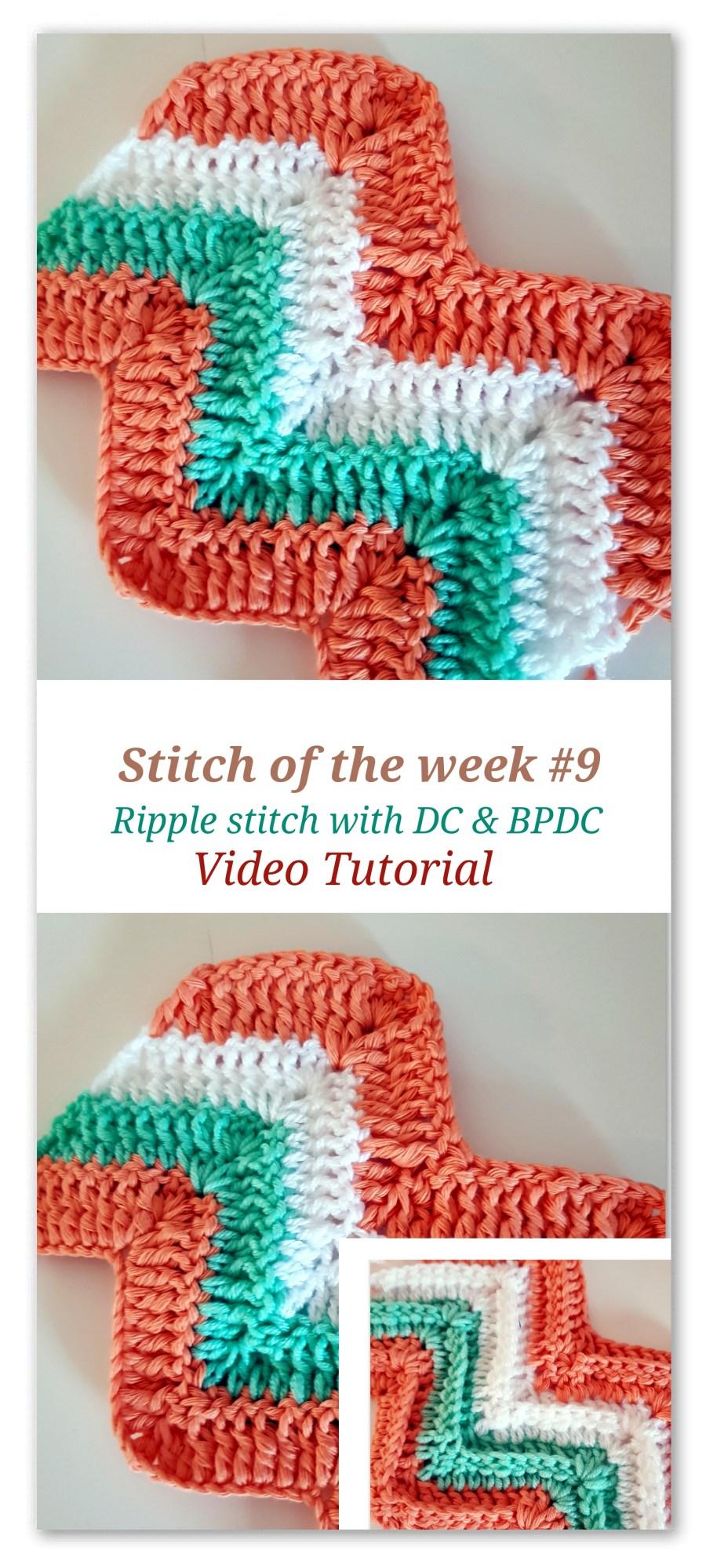 Stitch Of The Week 9 Ripple Stitch With Dc Bpdc Bykaterina