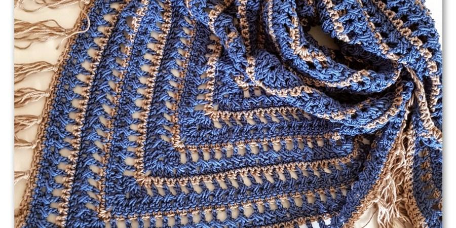 Jeanie Triangle Scarf Crochet Pattern Bykaterina