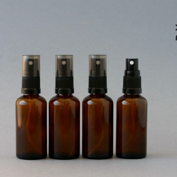 50ml amber glass fine mist spray bottles
