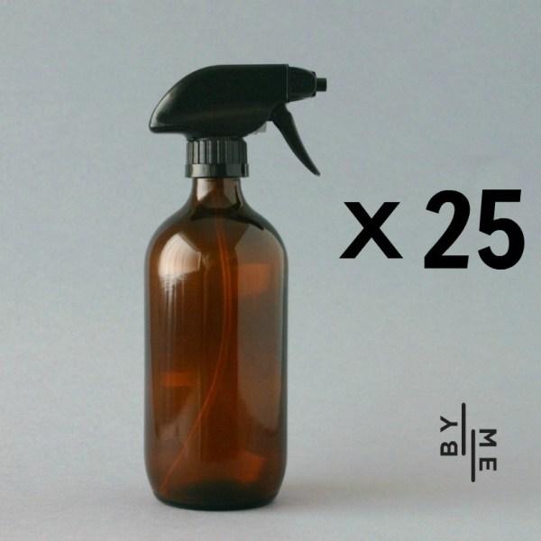 500ml amber glass spray bottle 25 pack