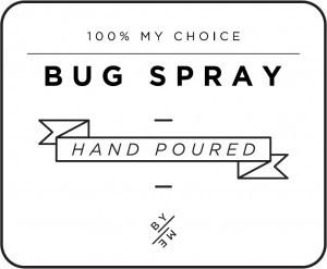 Mini White Bug Spray Decal