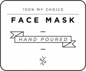 Mini White Face Mask Decal
