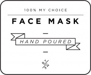 Mini White Face Mask Decal