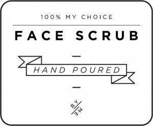Mini White Face Scrub Decal