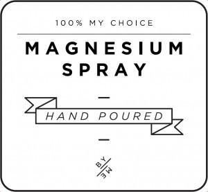Mini White Magnesium Spray Decal