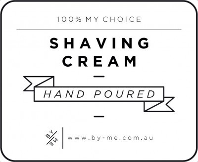 Small White Shaving Cream Decal