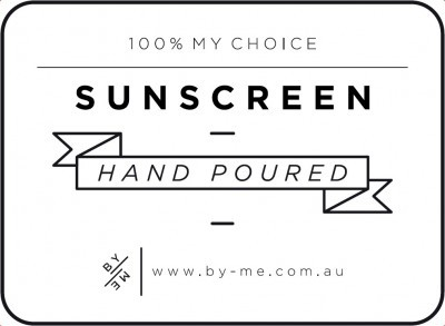 Small White Sunscreen Decal