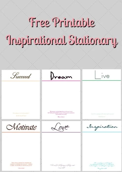 picture relating to Free Printable Stationary identified as Absolutely free Printable Stationary 6 Options ⋆ via Red
