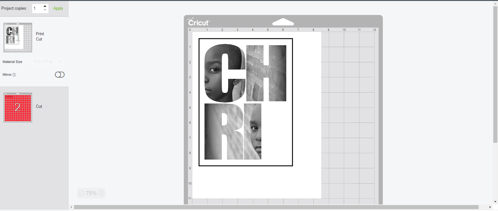 If you are looking to learn how to use the Cricut print and cut feature to cut patterns on Cricut printable iron on then you are in the right place. #cricutmade#cricuttutorials #tutorials #cricut #cricutdesignspace