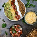 Today I are going to liven up your Taco Tuesday with this amazing Instant Pot Chicken Burrito Bowl. All the hearty goodness of a traditional burrito, but we eat it with a spoon! But the beauty, the beauty is you can take everything in this bowl, and put it in a tortilla shell and have the most delicious homemade burrito you have ever had.